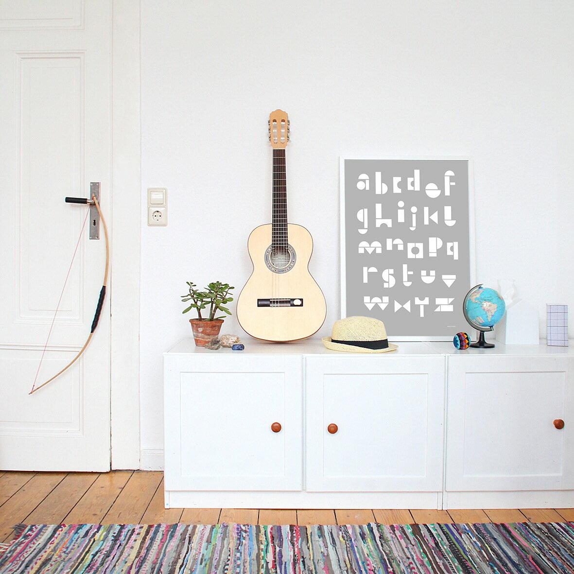snug.studio | snug.abc - poster (light grey) | ポスター (50x70cm)