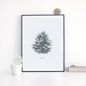 LOVELY POSTERS | PINE CONE PRINT | A2 アートプリント/ポスター【北欧 シンプル おしゃれ】