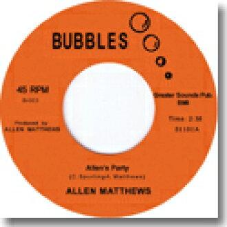 """ALLEN MATTHEWS and ALLEN's PARTY (7 """")"""