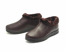 【在庫処分】メンズ 裏ボア 防寒ブーツ ショートブーツ ダークブラウン
