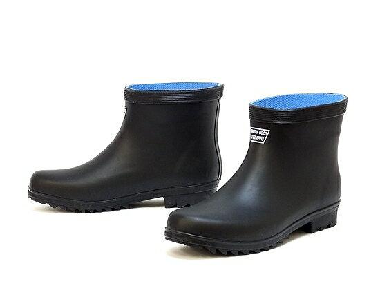 【あす楽対応】【アウトレット】【訳あり商品】メンズ ショート長靴 たんたんブーツ ブラック