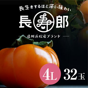 【遠州浜北大平産】 長寿郎次郎柿【秀品4L・32玉】【送料無料】