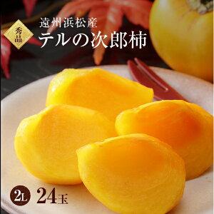 【遠州浜北大平産】 テルの次郎柿【秀品2L・24玉】約7キロ【送料無料】