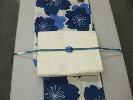 送料無料!女性用・レディース浴衣・さくら柄(藍色) 浴衣セット・紗京袋帯