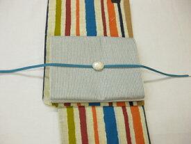 送料無料 女性用・レディース浴衣・ 縞京袋帯・綿麻浴衣4点セット 縞柄浴衣