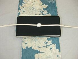 女性 レディース浴衣 古典柄ブルー浴衣細帯 帯留4点セットA 紺細帯