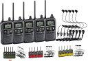 【 送料無料 】トランシーバー 特定小電力 無線機 インカムアイコム IC-4110 × 5台 + HD-13L × 5個 カルナ型イヤホン&マイクセット