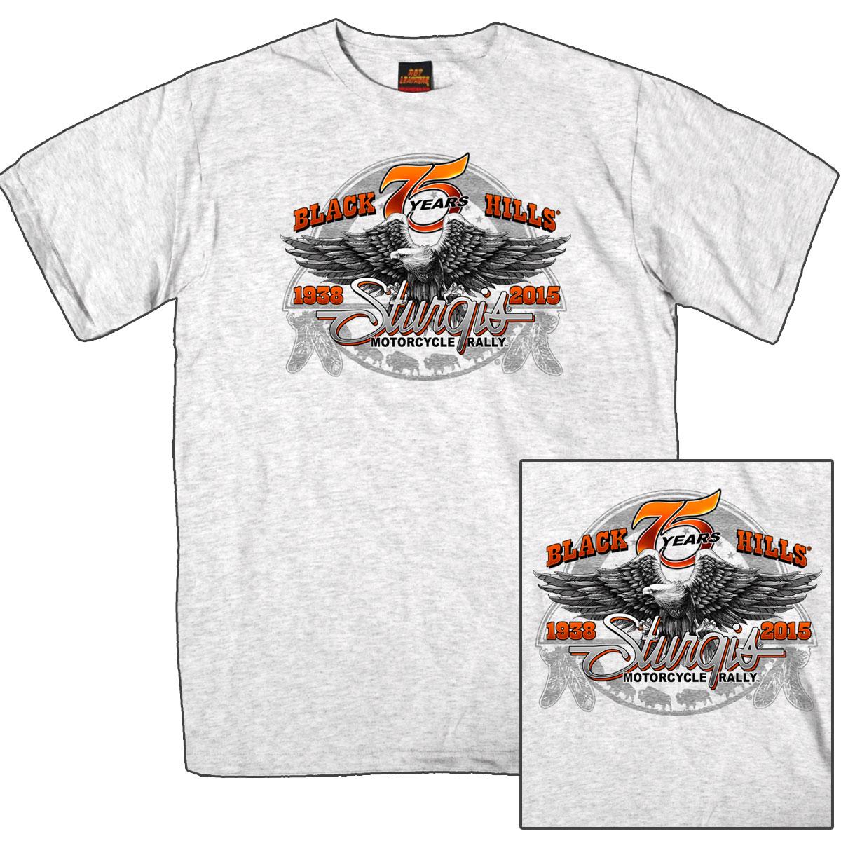 【送料無料!】 限定価格!米国ハーレーの祭典「スタージス」公式75周年イーグル コンドル半袖 Tシャツ! アメカジ バイカー! バイクに! ハーレーダビッドソン乗り愛用 ASH