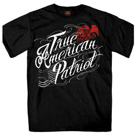 【送料無料!】日本未発売! セール価格! ホットレザー [True American Patriot Men's T-Shirt] トゥルーアメリカンパトリオット メンズ Tシャツ! 半袖 半袖シャツ! 米国 HOTLEATHERS 直輸入! ブラック 黒 イーグル 鷲 星条旗 プリントT バイクに!