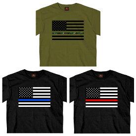 【送料無料!】日本未発売! セール価格! ホットレザー 全3色 [Thin Camo/Blue/Red Line USA Flag Men's T-Shirt] シン カモ/ブルー/レッド ライン USAフラッグ メンズ Tシャツ! 半袖 半袖シャツ! 米国 HOTLEATHERS 直輸入! 星条旗 迷彩 ブラック 黒 プリントT バイクに!