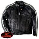 【送料無料!】米国直輸入! ホットレザー [Motorcycle Leather Jacket with Grey Arm Stripes] モーターサイクル・レザー・ジャケット・ウィズ・グレー・アー