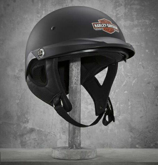 ハーレーダビッドソン 純正 メンズ パイオニア トレードマーク B&S デュアルフィット サンシールド マットブラック ハーフヘルメット! 希少! Pioneer Sun Shield Half Helmet ハーレー純正 日本未発売・限定モデル・プレゼントに!メンズ