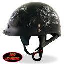 【送料無料!】無料特典ワンタッチバックル付! 日本未発売! ホットレザー [Electric Skull D.O.T. Helmet] DOT規格合格品 エレク...