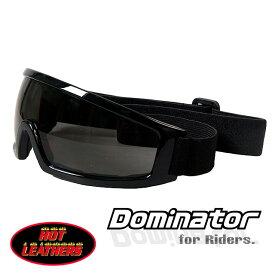 バイク ゴーグル スモークレンズ ドミネーター ライディング ゴーグル [Dominator Goggles/Smoke Lenses] 軽量 視界クリア 紫外線カット UV400 サングラス スキー・スノボー サバゲー サイクリングにも!