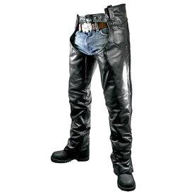 【送料無料!】日本未発売! 米国直輸入! 本革製 [Xelement Men's B7555 Classic Black Braided Elastic Fit Leather Chaps] メンズ クラシック ブラック レザー チャップス! ウエスト調節可能 編み上げ レザーパンツ バイクに 大きいサイズ