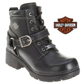 米国直輸入!日本未発売!送料無料!ハーレーダビッドソン・純正 レディース ティーガン ブラック レザー ローカット ブーツ ショートブーツ 本革 Harley-Davidson Womens Tegan Black Leather Low Cut Boot