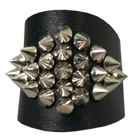 【送料無料!】日本未発売! 米国直輸入! ホットレザー [Genuine Leather Spike Cluster Hair Glove] ジェニュインレザー・スパイク・クラスター・ヘアグローブ! 1インチ 本革! スタッヅ パンク 装着一瞬でバイカースタイルの完成! ヘアアクセサリー