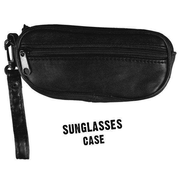 【送料無料!(条件あり)】大幅値引き!日本未発売!本革!ソフトレザーサングラスケース眼鏡(メガネ)ケース・皮・革2点収納可能!ストラップ付・ベルトループ付・スマホやタバコ、ジッポ・ZIPPO・ミニウェストバッグ(ウェストポーチ)アイコス02P03Dec16