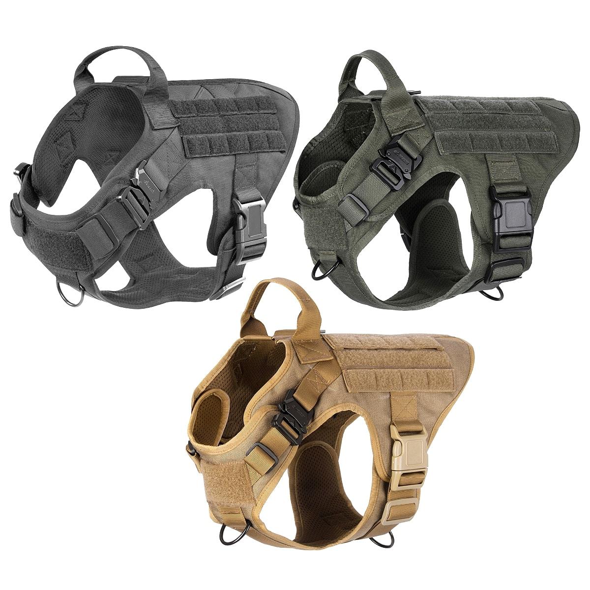 【送料無料!】全3色! 5サイズ [Military Tactical Molle Vest Dog Harness] ミリタリータクティカルモールベスト ドッグハーネス! 軽量 胴輪 K9 アーミー モールシステム 犬用 首輪 リード取付可能 大型犬 中型犬 小型犬 ドッグ バイカー サバゲー ギフトに!