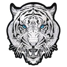 【送料無料!】日本未発売! セール価格! ホットレザー 2サイズ! [White Tiger Patch] ホワイト タイガー ワッペン! 虎 猫 パッチ 米国バイカー専門ブランド ホットレザーから直輸入! ウェアのカスタムに! 布製 アイロン対応 サイズ小