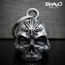 米国製 Bravo Bells ヘンプ スカル 3D ベル [Pot Head] ブラボーベル Made In USA 魔除け お守りとしてバイカーへの特…