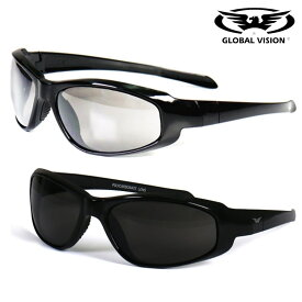 GLOBAL VISION サングラス Hercules 2 Sunglasses 高強度・高耐久性を誇る! レンズ全2色! グローバルビジョン ヘラクレス2 サングラス! ゴーグル ブラックフレーム UV400 スモーク/クリア 飛散防止加工 耐擦傷 折れない ANSI Z87.1 バイクに!