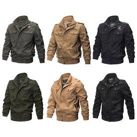 【送料無料!】2タイプ全3色! ビッグサイズも! [Men's Cargo Military Jacket] メンズ カーゴミリタリージャケット! フライトボンバージャケット マウンテンパーカー アメカジ ワッペン アーミー リブ袖 ブルゾン ジャンパー 大きいサイズ バイクに!