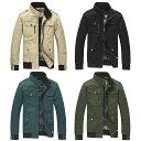 【送料無料!】全4色! ビッグサイズも! [Men's Stand Collar Military Jacket] メンズ スタンドカラーミリタリージャケット! フライトボンバージャケット マウンテン