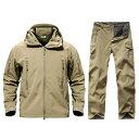 【送料無料!】全10色! 6サイズ! [Men's Waterproof Hooded Tactical Training Suit Set] メンズ ウォータープルーフタ…