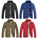 【送料無料!】全4色! 6サイズ! [Men's Light Cotton Padded Down Coat Jacket] メンズ ライトコットンパデッド ダウンコートジャケット! ボンバージャケッ