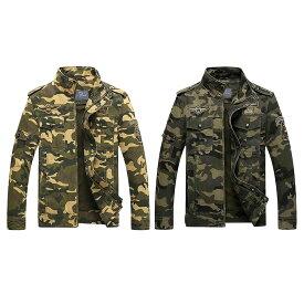 【送料無料!】全2色! 6サイズ! [Men's Military Tactical Camouflage Jacket] メンズ ミリタリータクティカルカモフラージュジャケット! ボンバージャケット Gジャン デニムジャケット 迷彩 ジャンパー ブルゾン コート アウター MA-1 サバゲー バイクに!