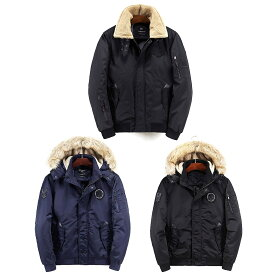 【送料無料!】全2タイプ! 2カラー! [Men's Military Boa/Fur Collar Flight Jacket] メンズ ミリタリーボア/ファーカラー フライトジャケット! ボンバージャケット ワッペン ウィンドブレーカー ジャンパー ブルゾン アウター MA-1 フェイクファー コート バイクに!