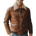 【送料無料!】全2色! 10サイズ! [Men's Pigskin Boa Collar Genuine Leather Riders Jacket] メンズ ピッグスキン ボアカラー ジェニュインレザー ライダースジャケット! 本革 豚革 ボンバージャケット フライトジャケット スエード コート アウター バイクに!