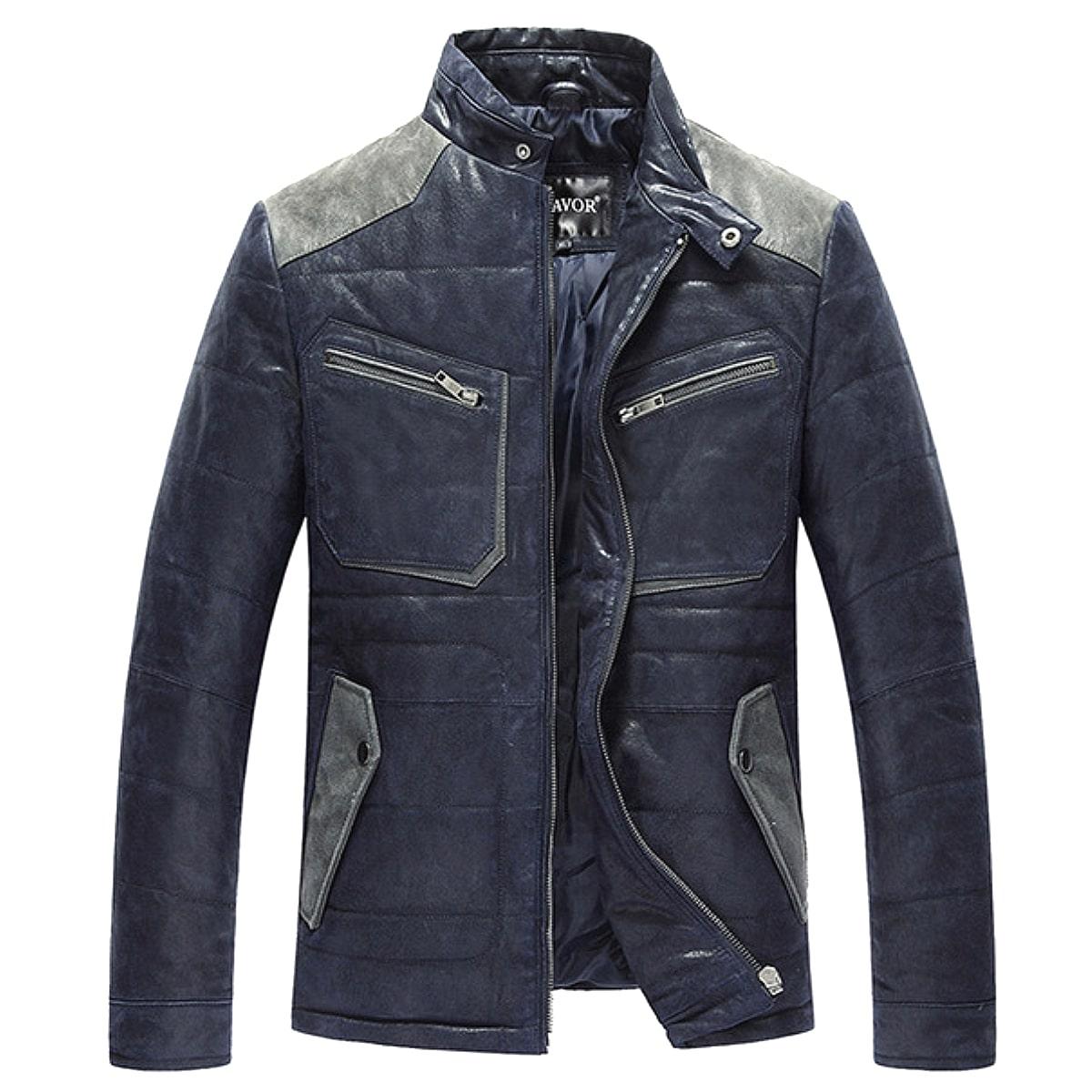 【送料無料!】全10サイズ! [Men's Vintage Blue Pigskin Single Riders Jacket] メンズ ビンテージ ブルー ピッグスキン シングルライダース ジャケット! 本革 豚革 革ジャン フライトジャケット ダウンジャケット コート アウター バイクに!