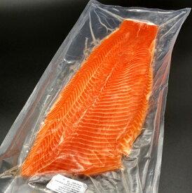 サーモン 半身 刺身用 皮なし 700g前後 チリ産 冷凍 フィレ 活締め 養殖 鮭