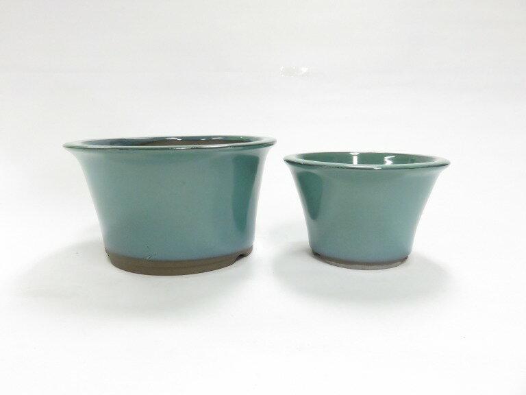 瀬戸焼 丸反型小鉢 オリベ4号セット 盆栽鉢 ミニ盆栽 A04-9