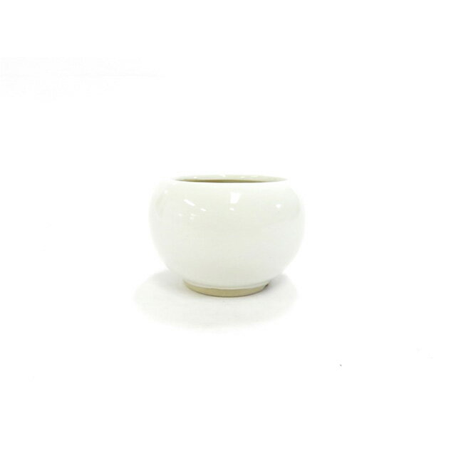 白2.5号丸鉢 1502-WY 観葉植物 山野草ミニ盆栽に最適です。
