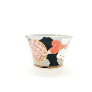 九谷焼 丸反型鉢 色華小紋4号 盆栽鉢 鉢マニアオリジナル