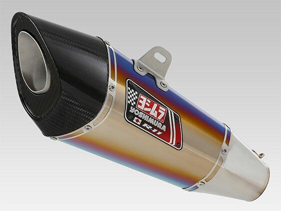 YOSHIMURA/ヨシムラ MT-07(14-16)、MT-07(17 : ABS有/ABS無)機械曲 R-11 サイクロン EXPORT SPEC 政府認証 STB (チタンブルーカバー) (品番 110-38C-5F80B )