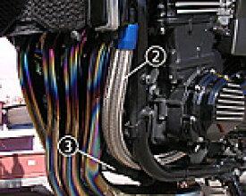 PMC/ピーエムシー ZRX1100 ラジエターホース ポンプout-シリンダーin レッド