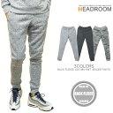 ジョガーパンツ メンズ ニット フリース MIXカラー 裾リブ スウエットパンツ ジャージ 迷彩 カモフラージュ セットアップ対応