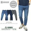 ジョガーパンツ メンズ GERRY 伸縮 スーパーストレッチ スウェット デニム 裾リブ イージーパンツ