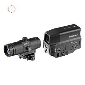 Vortex Opticsタイプ Razor AMG UH-1ドットサイト/VMX-3Tマグニファイヤーセット Black