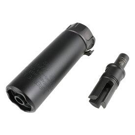 【ポイント5倍!12月11日8時59分まで】 Airsoft Artisan SFタイプ SOCOM46-MINIサプレッサー/SF3Pフラッシュハイダーセット Black (KWA/VFC・UMAREX MP7対応)