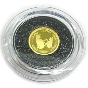純金K24金ミーチョとミーチャ キャット・コイン1/30オンス(4$)2021年版金貨レザーケース入り裏面エリザベス女王英国王室造幣局(ロイヤルミント)製造 コインジュエリー【ギフトラッピン