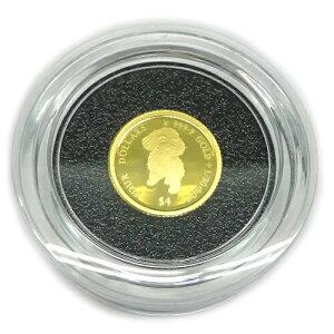 純金K24金プードル ドッグコイン1/30オンス(4$)2021年版金貨レザーケース入り裏面エリザベス女王英国王室造幣局(ロイヤルミント)製造 コインジュエリー【ギフトラッピング済み】【送料