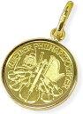 純金コイン ペンダントトップウィーンハーモニー金貨1/25オンス シンプル枠【送料無料】【レディース,激安,特価,通…