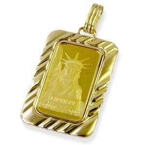純金24金リバティー(自由の女神)20グラムインゴットペンダント総重量26グラムリバーシブル【送料無料】【レディース,激安,特価,通販】