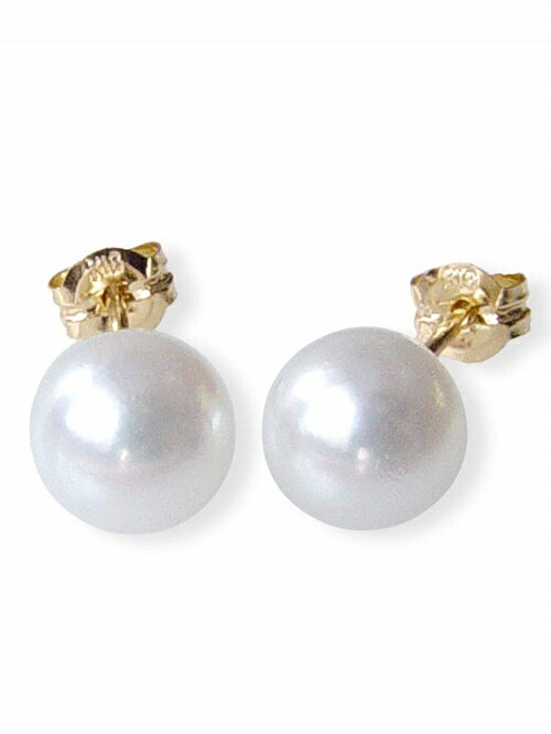 18金和珠本真珠ピアス約6.0ミリアップ【6月誕生石真珠】【レディース,激安,特価,通販】