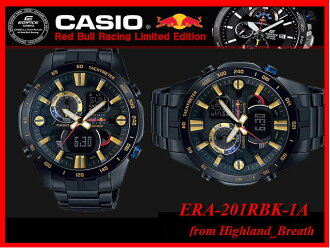 "«Same day shipping» Pinnacle: Red Bull ★ CASIO watch Casio watches g-shock watches ""watches Casio g shock watches edifice Red Bull collaboration ERA-201RBK-1A"